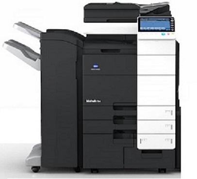 konica minolta bizhub 754 schwarz weiss kopierer drucker scanner fax ebay. Black Bedroom Furniture Sets. Home Design Ideas